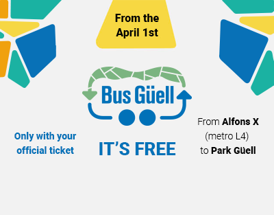 BUS GÜELL : April 1st. NEW direct shuttle bus to Park Güell