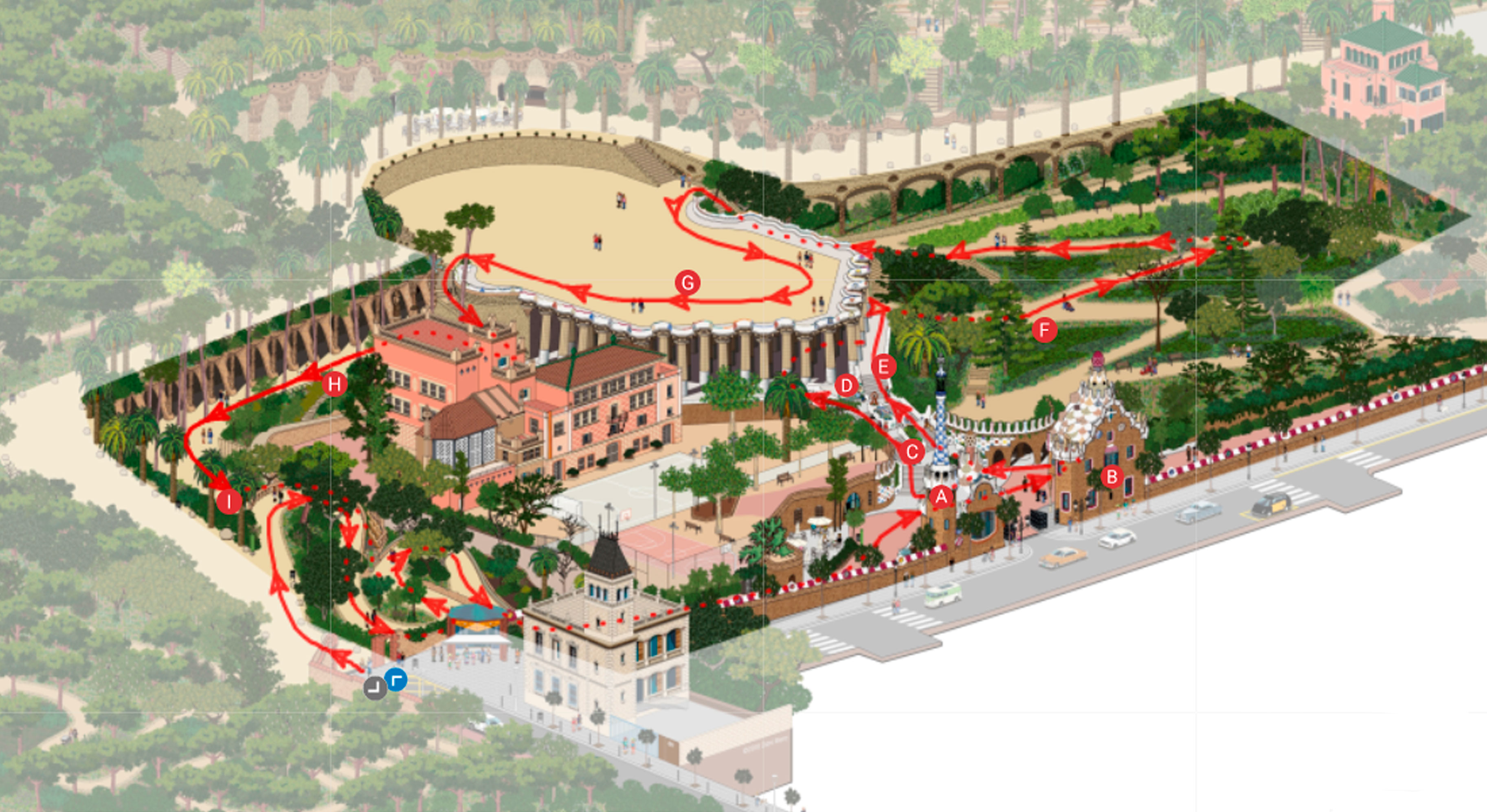 Official Website Park Guell Barcelona Web Oficial Park Guell