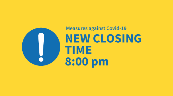 New closing time 8:00 pm